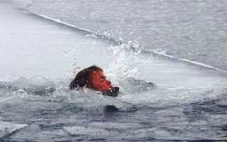 Если провалился под лед, что нужно делать