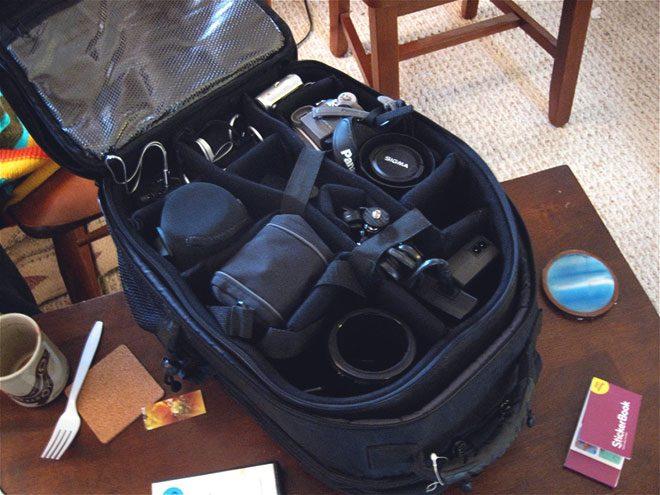 Рюкзак с отсеками.
