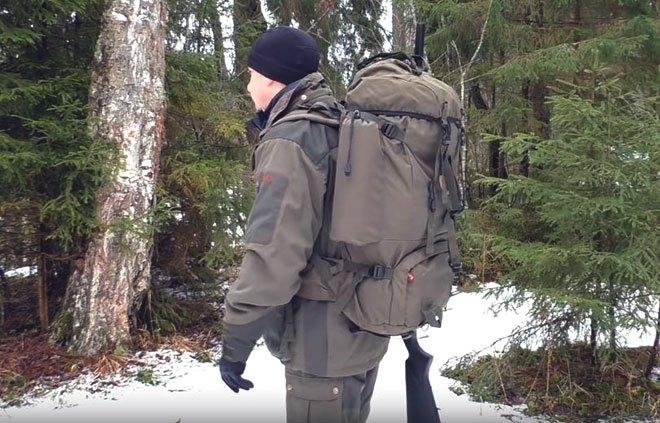Охотник с рюкзаком