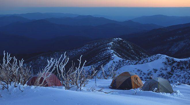 Зима и палатка