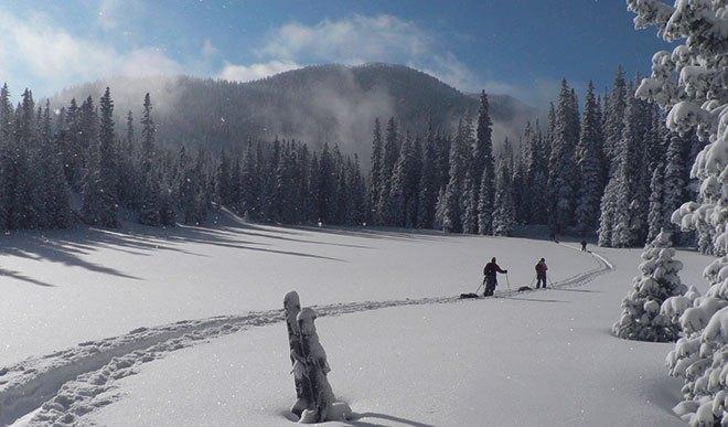 В походе на лыжах