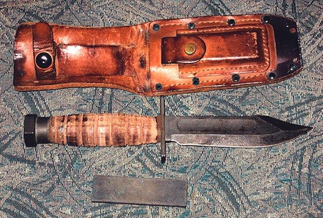 Нож, ножны, брусок