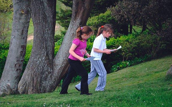 Дети на спортивном ориентировании