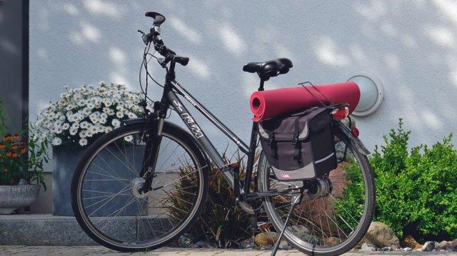 Велосипед с ковриком