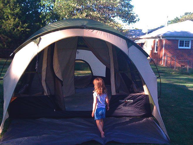 Большая кемпинговая палатка.