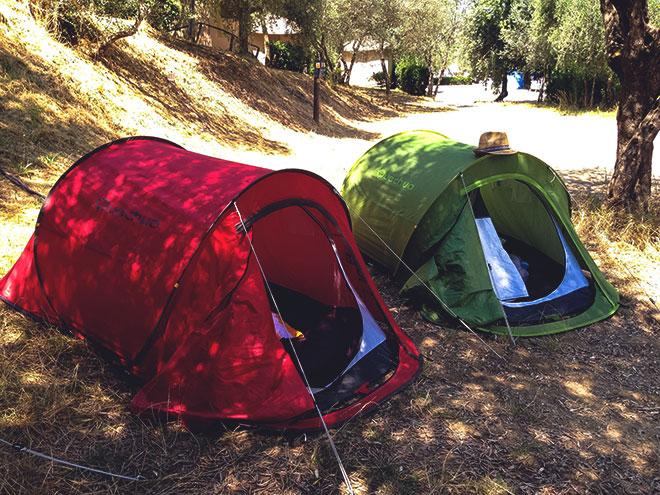 Полубочки кемпинговые палатки.