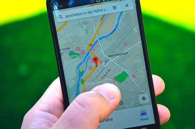 Определение местоположения по карте в телефоне