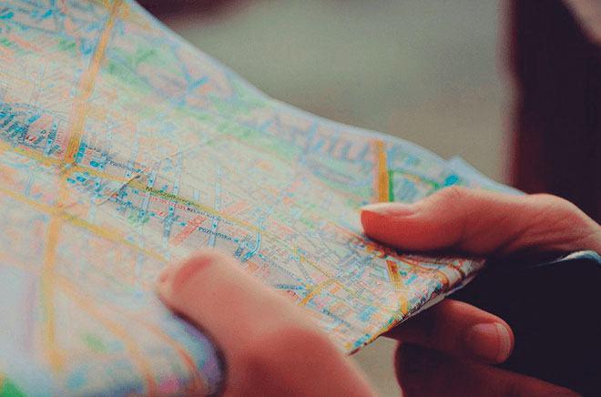 Определение местоположения по карте